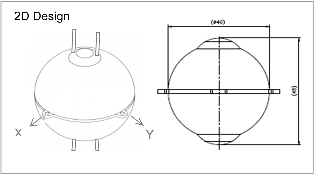 Drawing for 2D Acoustic Vector Sensor